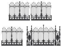 Porte et frontière de sécurité illustration libre de droits