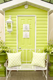 Porte et meubles de patio image stock