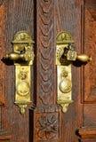Porte et verrou de la grande église Image libre de droits