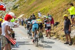 Porte, Froome и Nibali на дорогах гор - Тур-де-Франс Стоковые Изображения