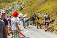 Porte, Froome и Nibali на дорогах гор - Тур-де-Франс Стоковое Изображение