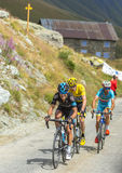 Porte, Froome and Nibali on the Mountains Roads - Tour de France Royalty Free Stock Photo