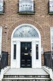 Porte georgiane variopinte a Dublino (il nero) Fotografie Stock Libere da Diritti