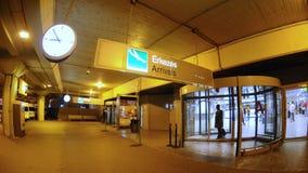 Porte giratoire dans l'aiport Ferihegy de Budapest Photographie stock libre de droits