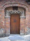 Porte gothique à Mons Photographie stock libre de droits