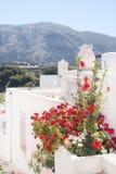 Porte grecque traditionnelle sur l'île de Mykonos photo libre de droits