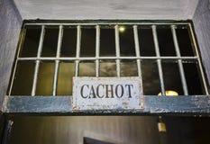 Porte grunge au vieux cachot de cellules de prison Photo libre de droits