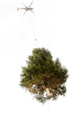 Porte-hélicoptères un arbre de Noël Photo libre de droits