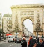 Porte heilige-Denis - de inschrijving van LUDOVICO MAGNO Royalty-vrije Stock Afbeeldingen
