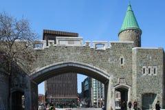 Porte Heilige Jean, één van de stadspoorten van de Stad van Quebec Stock Afbeelding