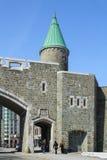 Porte helgon Jean, en av stadsportarna av Quebec City Royaltyfri Fotografi