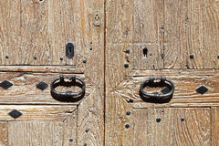 Porte historique dans la ville de Majorque Photo libre de droits