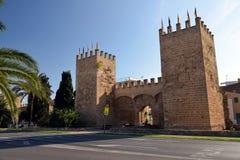 Porte historique de ville dans Alcudia image stock