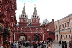Porte ibérienne de résurrection dans Kremlin, Moscou Photographie stock