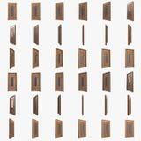 Porte Illustration préparée pour l'animation Photo stock