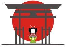 Porte japonaise illustration libre de droits