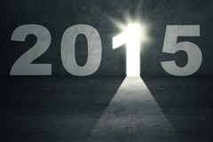 Porte lumineuse à l'avenir 2015 Image libre de droits