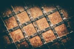 porte médiévale de vieille électrodéposition Image stock