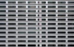 Porte m?tallique grise de garage pour des milieux, poli image stock