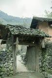Porte, maison des minorités ethniques Photo stock