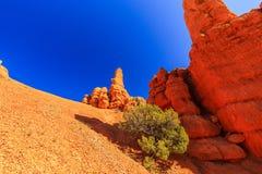 Porte-malheur en canyon rouge en Utah, Etats-Unis Images libres de droits