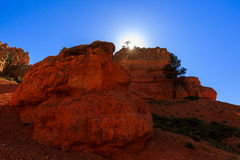 Porte-malheur en canyon rouge en Utah, Etats-Unis Photo stock