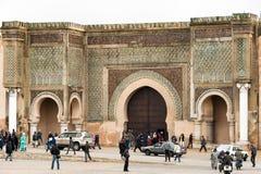 Porte Meknes, Marocco de Bab EL-Mansour Photographie stock libre de droits