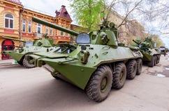 Porte-mortier autopropulsé des Forces navales de la Norvège-SVK 120mm Photographie stock libre de droits