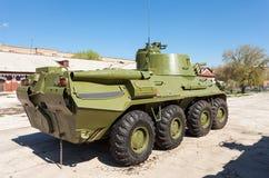 Porte-mortier autopropulsé des Forces navales de la Norvège-SVK 120mm sur le châssis à roues Images libres de droits