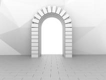 Porte neutre de brique Photographie stock libre de droits
