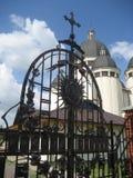 Porte noire forgée Photo stock