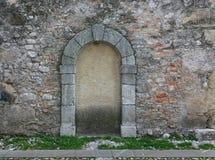 Porte obstruée avec le béton Photos libres de droits
