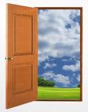 Porte ouverte Image stock