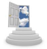 Porte ouverte aux possibilités neuves Photo libre de droits