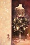 Porte ouverte dans Noël Photos libres de droits