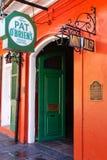 Porte ouverte de bar d'OBriens de tapotement de la Nouvelle-Orléans Image libre de droits