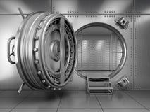 Ouvrez la porte de chambre forte de banque Photographie stock