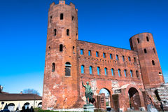 The Porte Palatine in Turin Stock Images