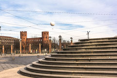 The Porte Palatine in Turin Royalty Free Stock Images