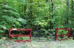Porte par des bois Photographie stock libre de droits