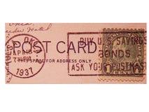 Porte postal do vintage Foto de Stock Royalty Free