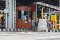 Porte pour le paiement d'honoraires d'autoroute urbaine à Bangkok par EXAT Photo libre de droits