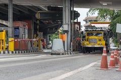 Porte pour le paiement d'honoraires d'autoroute urbaine à Bangkok par EXAT Photo stock