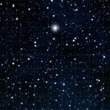 Portée pour les étoiles avec l'étoile lumineuse Images libres de droits