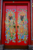 Porte principale au temple chinois en Kuala Lumpur, Malaisie Photographie stock