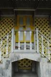 Porte principale de Masjid Ihsaniah Iskandariah chez Kuala Kangsar image stock