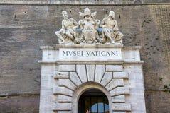 Porte principale de musée de Ville du Vatican, Vatican Photos stock