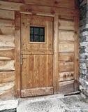Porte principale en bois Photos stock