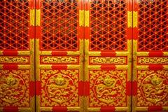 Porte reali cinesi rosse e dorate fotografia stock