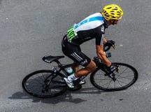 澳大利亚骑自行车者Porte Richie 免版税图库摄影